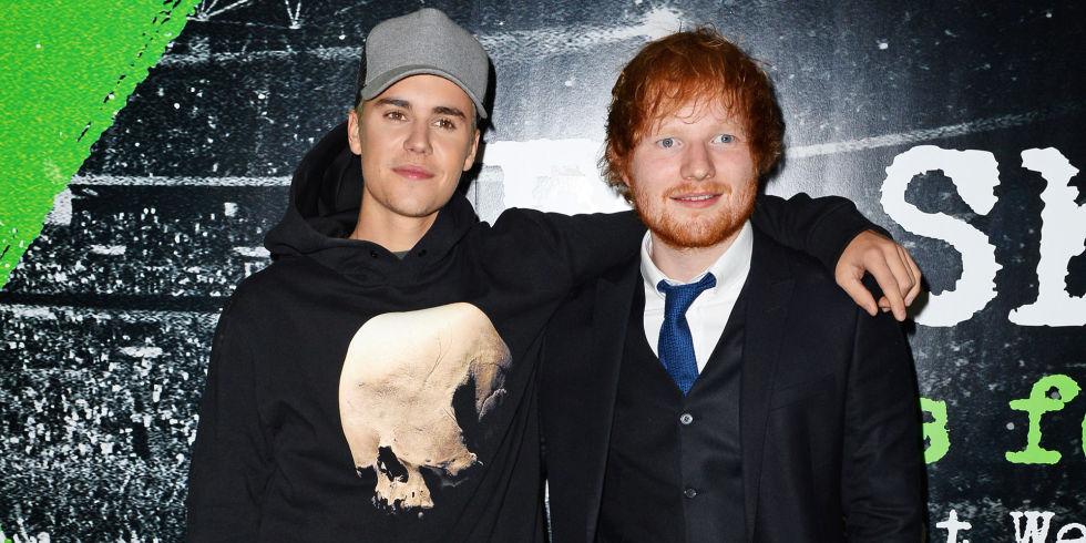 ¡La que faltaba! Ed Sheeran golpeó a Justin Bieber