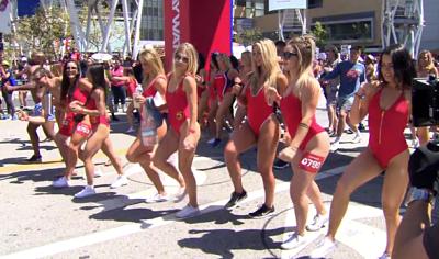La maratón más lenta del mundo para promocionar Baywatch