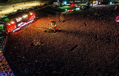 cómo se vive un concierto de Metallica desde el público