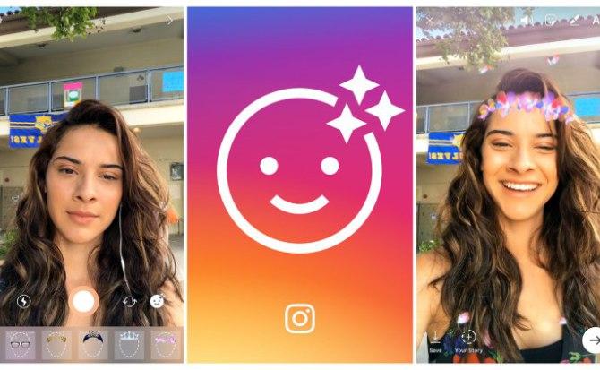 Llegaron a Instagram los filtros de cara